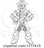 06/27/2020 - Pirate Captain Cartoon Character Mascot