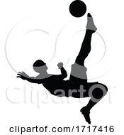 Poster, Art Print Of Soccer Football Player Silhouette