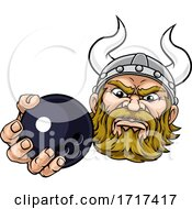 06/27/2020 - Viking Ten Pin Bowling Ball Sports Mascot Cartoon