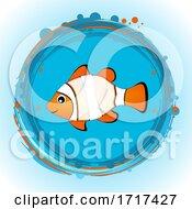 Cute Fish Border Copy Space Hand Drawn by elaineitalia