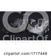 Front Loader Digger Isolated