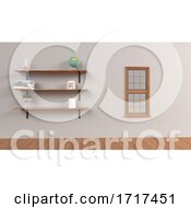 Poster, Art Print Of Set Of Shelves Isolated On Wall Background