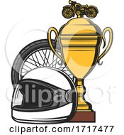 Motorcycle Racing Winner Trophy
