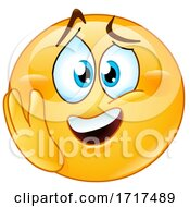 Poster, Art Print Of Yellow Emoji Smiley Looking Emotional