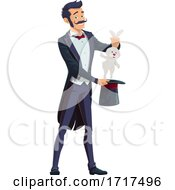 Poster, Art Print Of Magician Pulling A Rabbit From A Hat