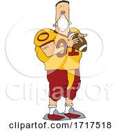 Poster, Art Print Of Cartoon Football Player Wearing A Mask