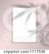 Blank Picture Background With Leaves Shadow Overlay