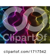 3D Flowing Rainbow Coloured Lines Background