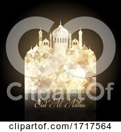 Poster, Art Print Of Eid Al Adha Background With Low Poly Mosque Design