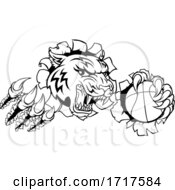 06/30/2020 - Tiger Baketball Player Animal Sports Mascot