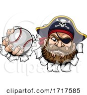 Pirate Baseball Ball Sports Mascot Cartoon