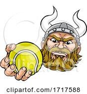 Viking Tennis Ball Sports Mascot Cartoon