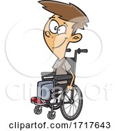 Cartoon Teen Boy In A Wheelchair
