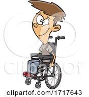 Cartoon Teen Boy In A Wheelchair
