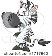 Cartoon Crazy Zebra