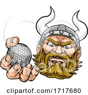 Viking Golf Ball Sports Mascot Cartoon
