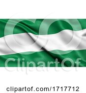 Flag Of Santa Cruz Waving In The Wind
