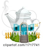 Tea Pot House by Vector Tradition SM