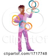 Circus Performer With Rings by Vector Tradition SM