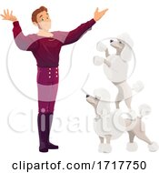 Circus Act With Performing Poodles by Vector Tradition SM