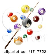 Billiards Stick And Balls