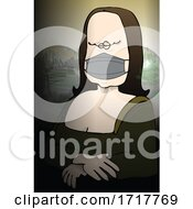 Rona Lisa Fine Art Parody Of Mona Lisa Wearing A Coronavirus Mask