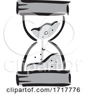 Grayscale Timer Hourglass by Johnny Sajem #COLLC1717776-0090