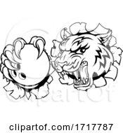 Tiger Bowling Player Animal Sports Mascot
