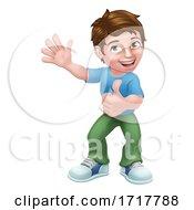 Kid Cartoon Boy Child Thumbs Up
