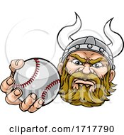 Viking Baseball Ball Sports Mascot Cartoon