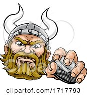Viking Ice Hockey Sports Mascot Cartoon