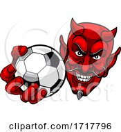 Devil Soccer Football Ball Sports Mascot Cartoon by AtStockIllustration