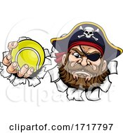 Pirate Tennis Ball Sports Mascot Cartoon