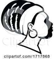 Rasta Empress Or Rastafari Woman Side View Black And White