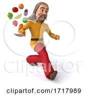 Poster, Art Print Of 3d Gaul Man On A White Background