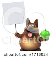 3d German Shepherd Dog On A White Background