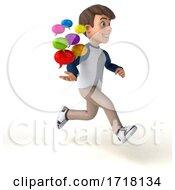 3d White Boy On A White Background