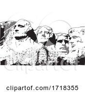 Mount Rushmore Black And White