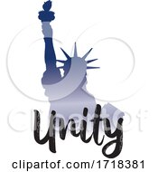 Gradient Statue Of Liberty With Unity Text