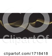 Poster, Art Print Of Glittering Flowing Gold Lines
