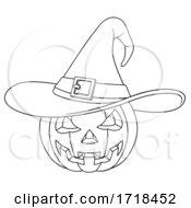 Poster, Art Print Of Coloring Book Jack O Lantern Halloween Pumpkin