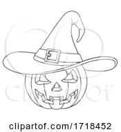 Coloring Book Jack O Lantern Halloween Pumpkin