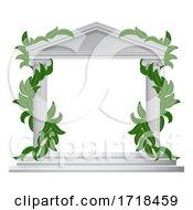 Poster, Art Print Of Column Pillar Greek Or Roman Temple Border Frame