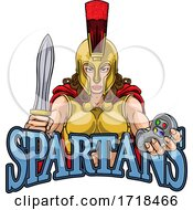 Poster, Art Print Of Spartan Trojan Gladiator Gamer Warrior Woman