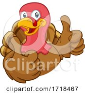 Turkey Thanksgiving Or Christmas Cartoon Character