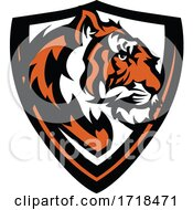 Poster, Art Print Of Tiger Mascot In A Shield