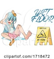 Manga Girl After Slipping on a Wet Floor by mayawizard101 #COLLC1718472-0158