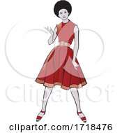 07/09/2020 - Beautiful Black Lady In A Fashionable Red Dress