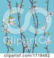Blossom Japanese Sakura Cherry Flower Pattern