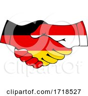 Poster, Art Print Of Shaking German And Polish Flag Hands